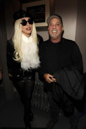 Billy Joel and Lady Gaga Posing