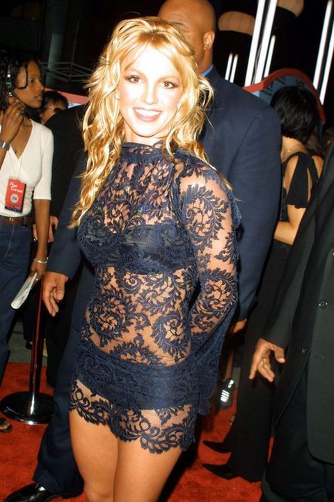 Britney Spears See Through Dress