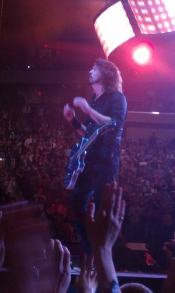 Dave Grohl Getting the Audience Going At Madison Square Garden