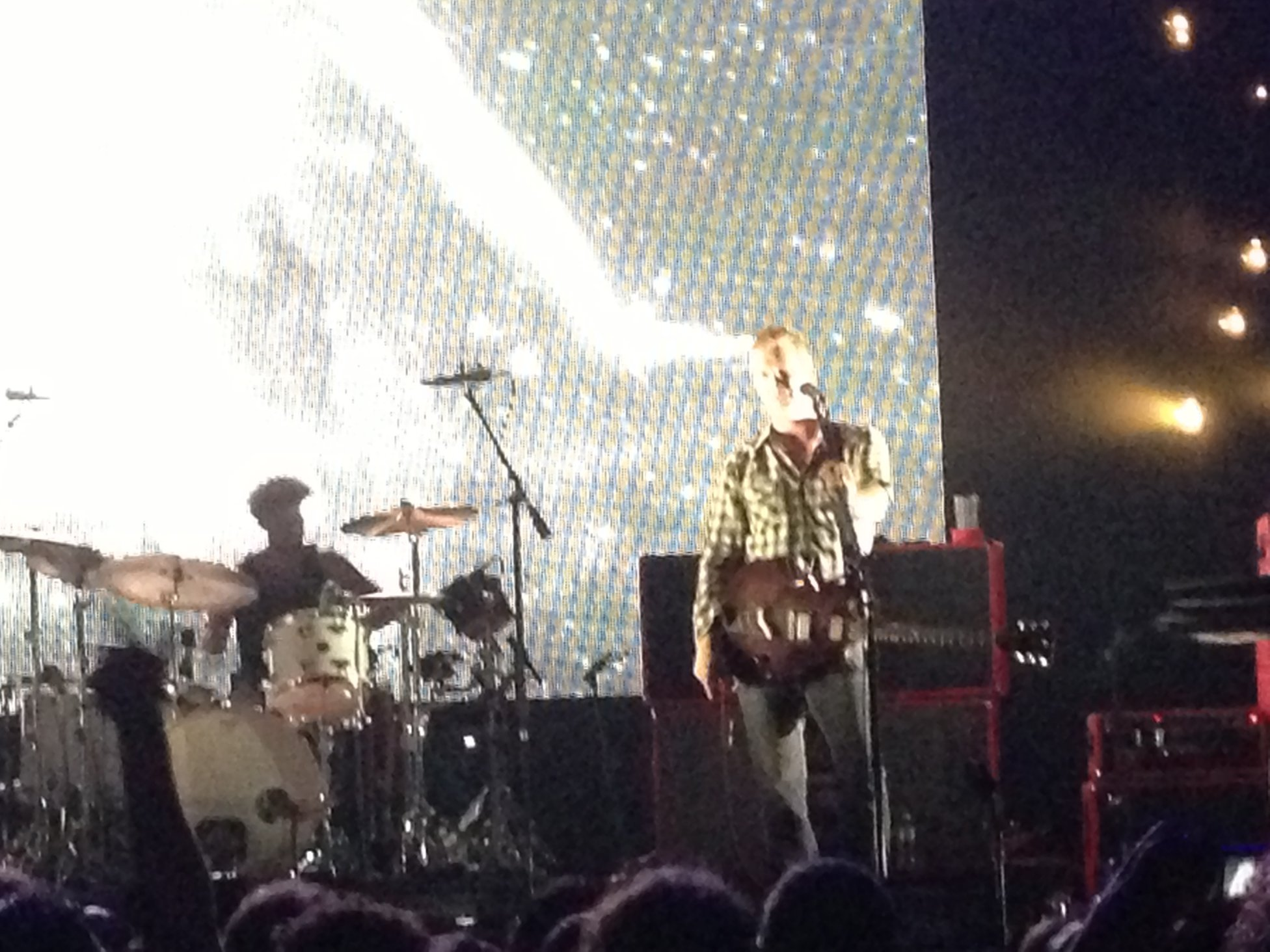 Josh Homme Looking At Crowd