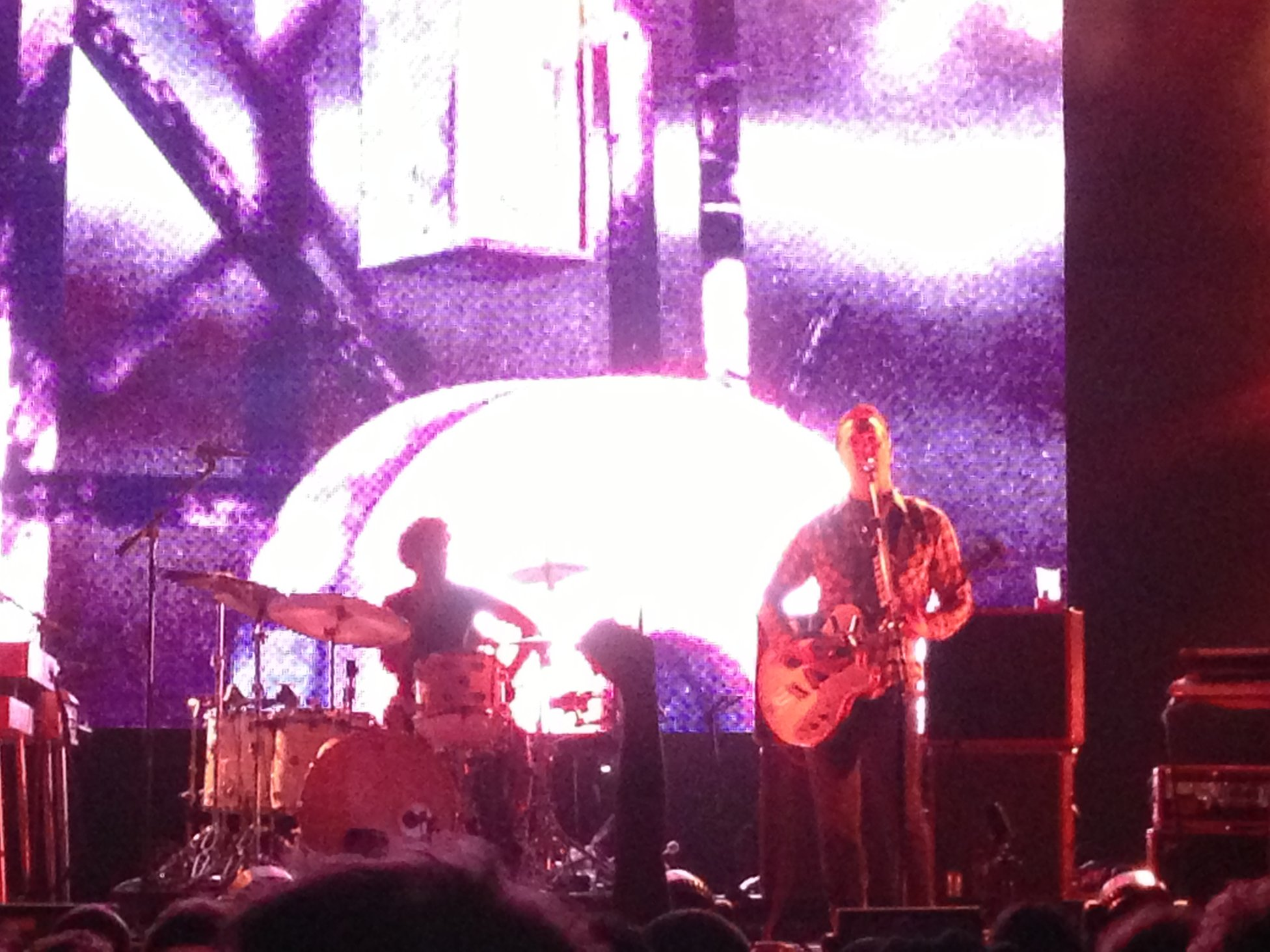 Josh Homme On Guitar With Jon Theodore On Drums