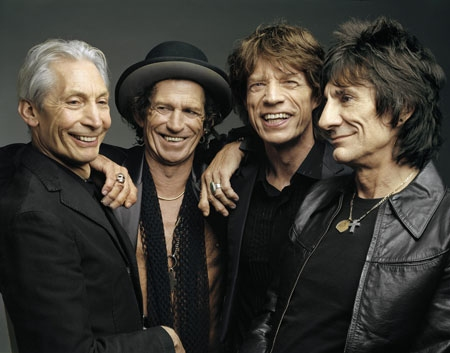 Rolling Stones Band Close Up