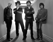 Rolling Stones Band Black and White