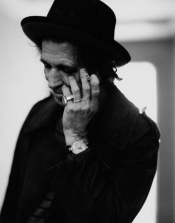 Rolling Stones Keith Richards Black and White