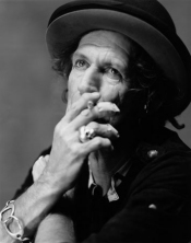 Rolling Stones Keith Richards Smoking
